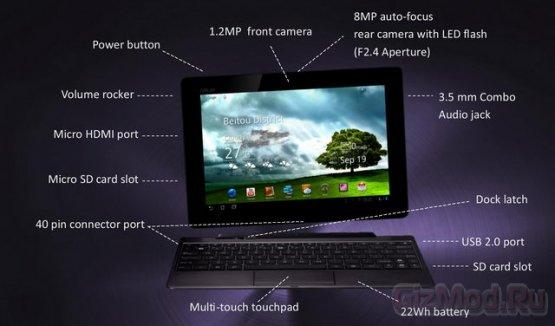 Как выглядит Android 4.0 на планшете ASUS Prime