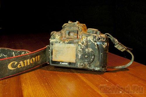 Canon 1000D больше года хранила снимки на дне моря
