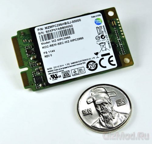 Samsung mSATA SSD массой 8 граммов