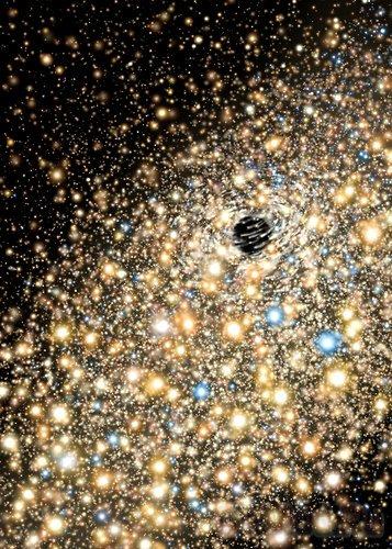 """Обнаружены две черные дыры """"обжоры"""""""
