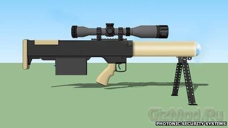 Нелетальные лазерные винтовки SMU 100 для полиции