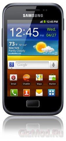 Samsung Galaxy Ace Plus первый смартфон в 2012-ом