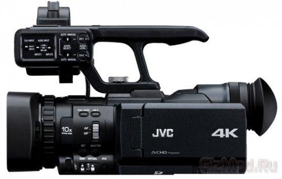 Переносная видеокамера, пишущая в разрешении 4K