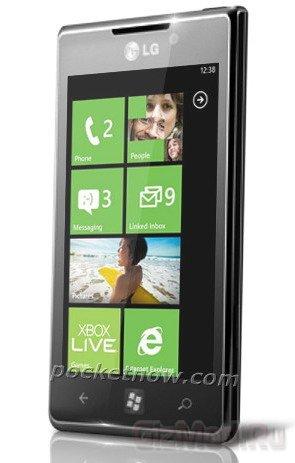 WP7 смартфон LG Miracle