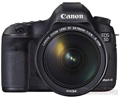 Полнокадровая зеркалка Canon EOS 5D Mark III