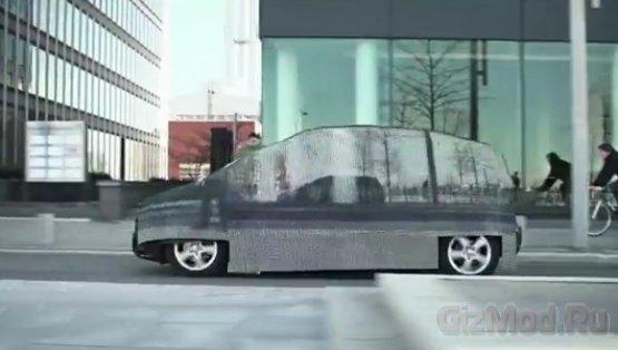 Реклама невидимого автомобиля Mercedes
