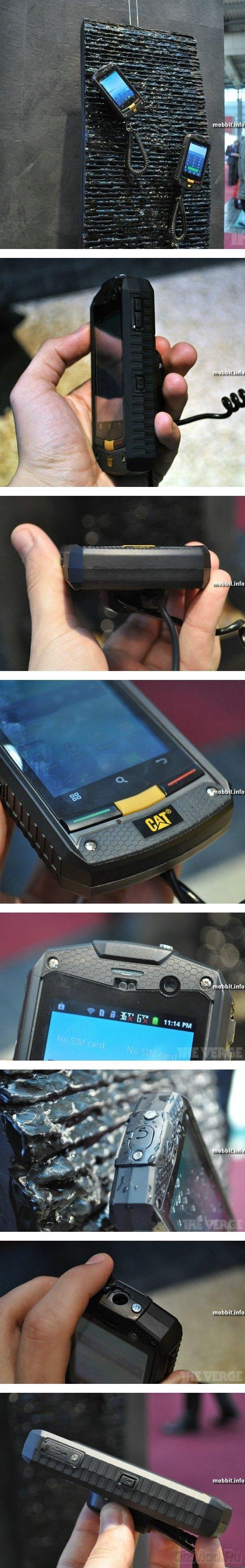 """""""Неубиваемый"""" смартфон Сaterpillar CAT B10"""