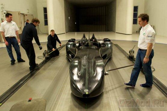 Концептуальный суперкар Nissan DeltaWing на видео