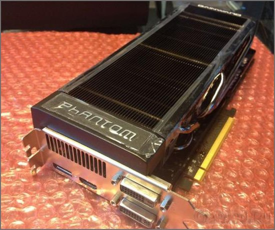 Живые фото Gainward GeForce GTX 680 Phantom