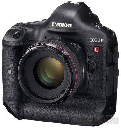 Зеркалка Canon EOS-1D C снимает в формате 4K