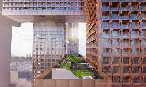 Небоскреб-решетка Cross # Towers