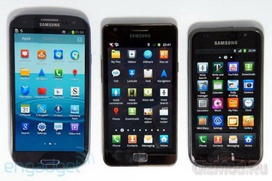 Samsung Galaxy S III против старших собратьев