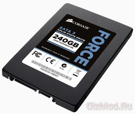 Комплект Corsair для апгрейда ноутбука SSD-накопителем