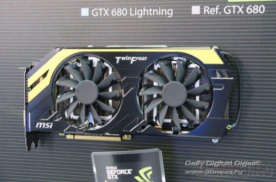 Видеокарта MSI N680GTX Lightning