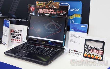 Игровой ноутбук MSI GX60 на процессоре AMD Trinity