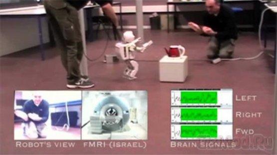 Удаленное управление роботом силой мысли