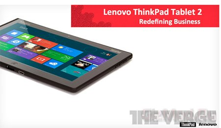 О планшете Lenovo ThinkPad Tablet 2
