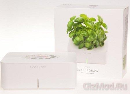 Умный цветочный горшок Click & Grow