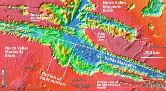 Учёные увидели движение тектонических плит вне Земли