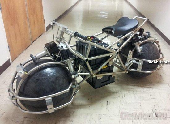 Сферические колеса в мотоцикле Spherical Drive System