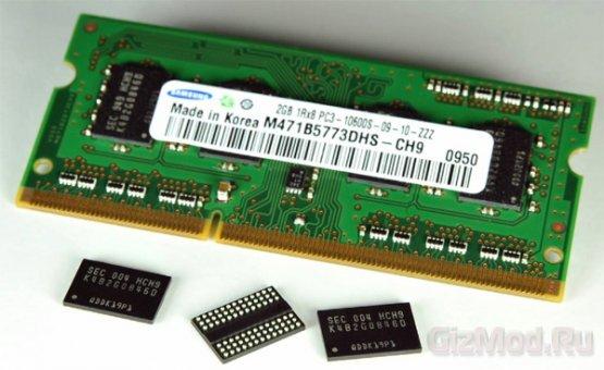 Память DRAM продолжает падать в цене