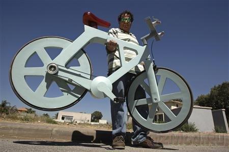 Картонный велосипед идет в массы