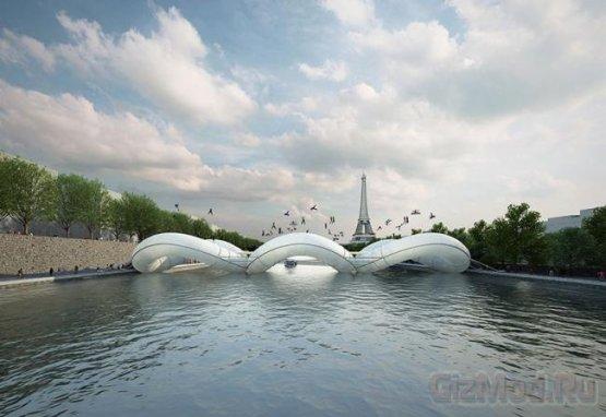 В париже появится надувной мост