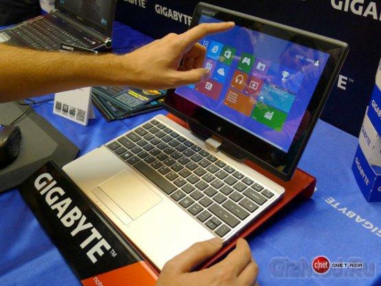 Ноутбук Gigabyte U2142 под управлением Windows 8