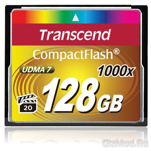 Transcend выпустила карты памяти 1000x CompactFlash