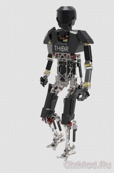 Робот Boston Dynamics преодолевает сложные препятствия