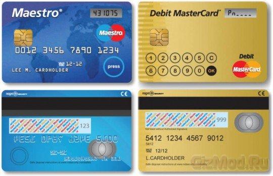 Display Card банковская карта с ЖК-дисплеем и клавиатурой