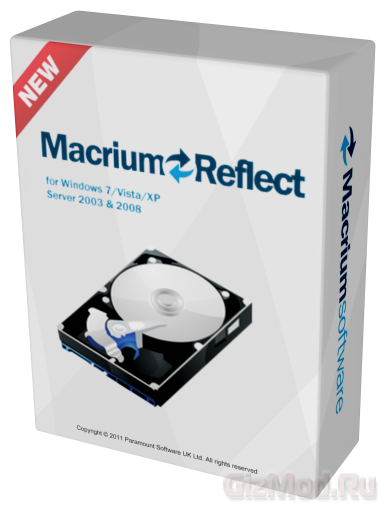 Macrium Reflect Free 5.1.5313 - работа с разделами HDD