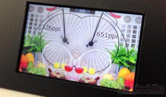 LCD-панель с плотностью пикселей 651 ppi