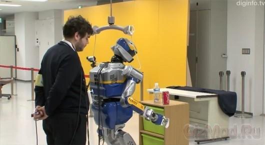 Робот-гуманоид под управлением мозгового интерфейса