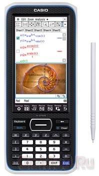 Цветной сенсорный дисплей в калькуляторе Casio fx-CP400