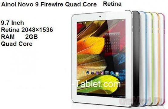 Novo 9 Firewire: 4 ядра и Retina дисплей в планшете за $230