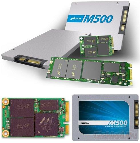 SSD-диски Micron на 20-нм чипах Crucial M500