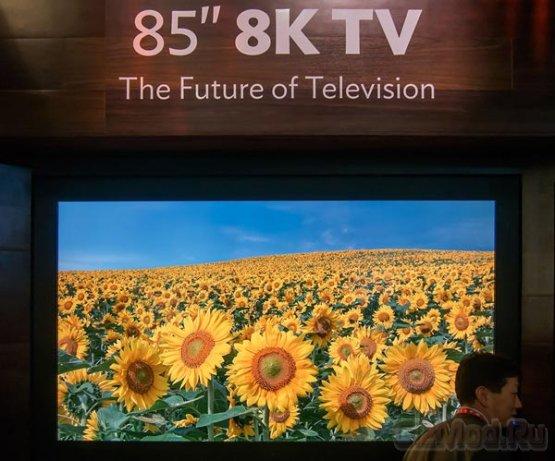 ЖК-экран Sharp разрешением 8K