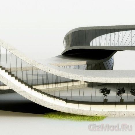 3D принтер используют для печати здания