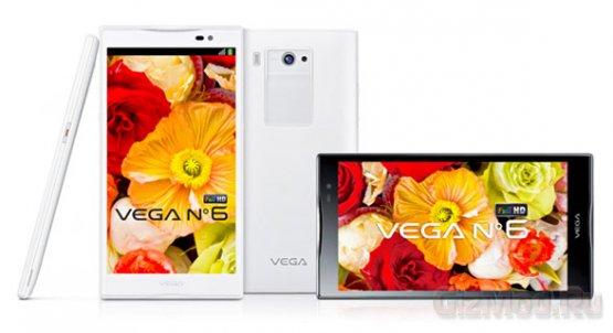 "Pantech Vega №6 - ""плафон"" с 6"" дисплеем Full HD"
