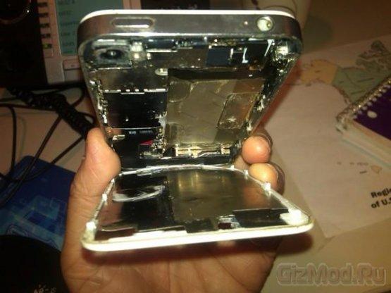 Apple открестилась от загоревшегося iPhone