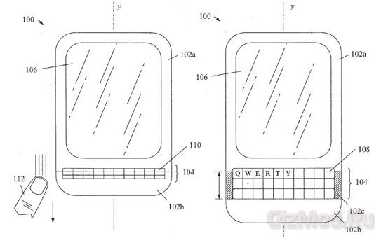 BlackBerry патентует клавиатуру-гармошку в смартфонах