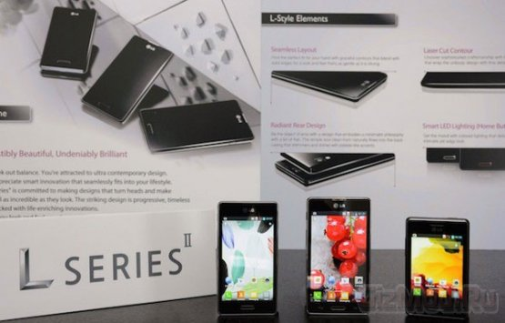 Анонсированы сартфоны LG Optimus L Series II