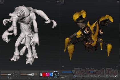 123D Creature - создаем монстров на iPad