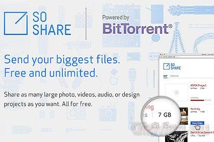 "SoShare - сервис для обмена ""тяжелыми"" файлами"