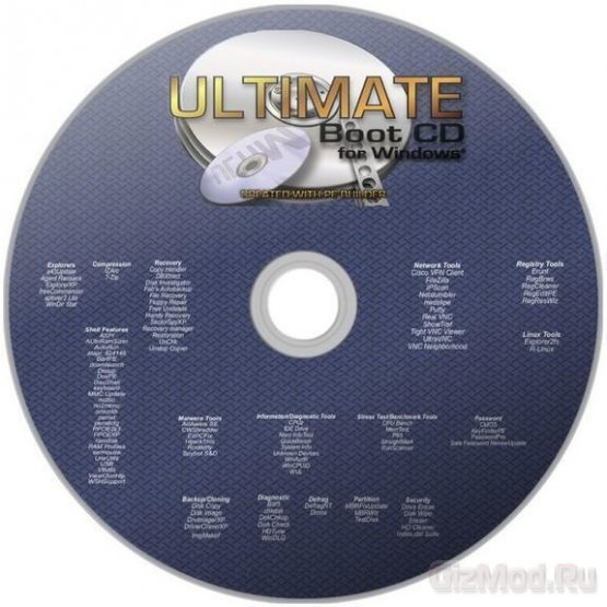 Ultimate Boot CD 5.20 - реаниматор ПК