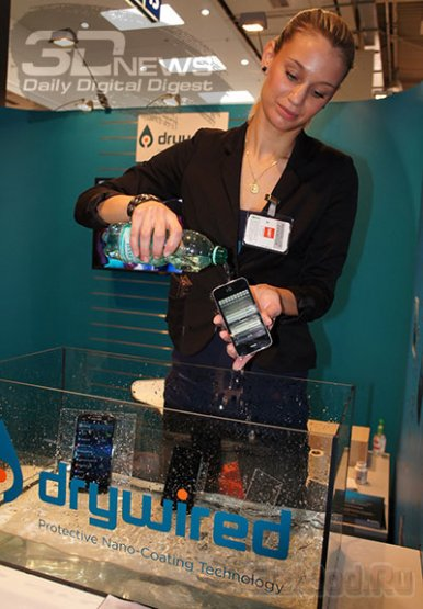 Покрытие DryWired защитит любой гаджет от воды