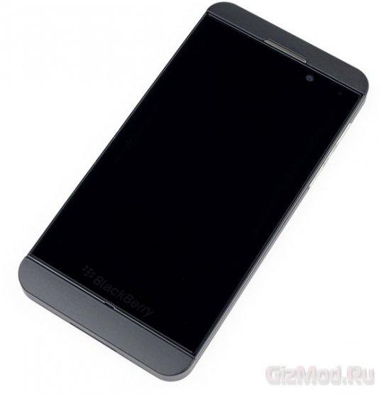 "iFixit ""расковыряли"" BlackBerry Z10"