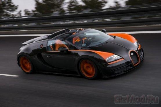 Самый быстрый кабриолет Bugatti Veyron Vitesse