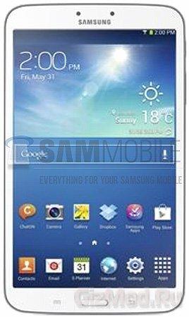 "Характеристики Samsung Galaxy Tab 3 с 8"" дисплеем"